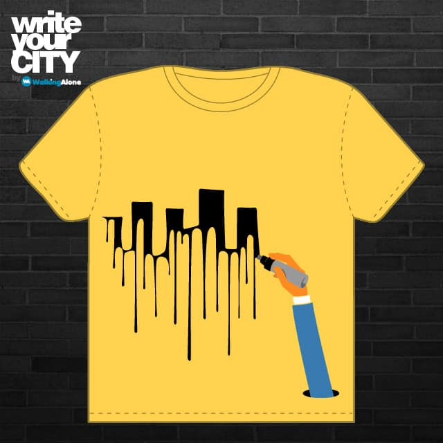 Write Your City by WalkingAlone on Threadless