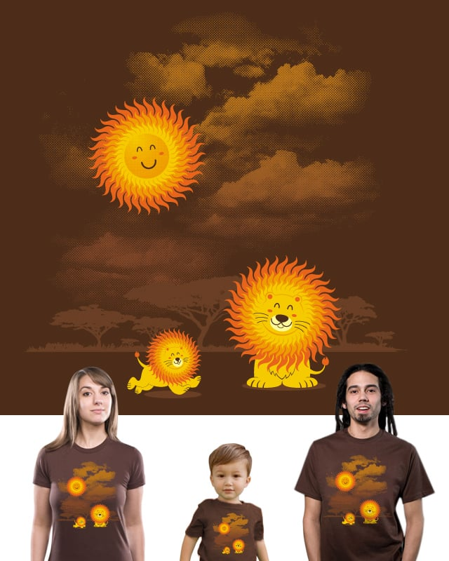 A Big Bright Sunshine Hair by lawrence loh on Threadless