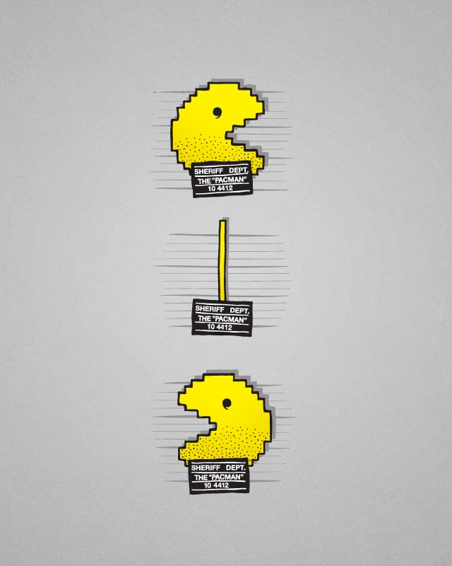 Pacman is Going Down by jameses.x on Threadless
