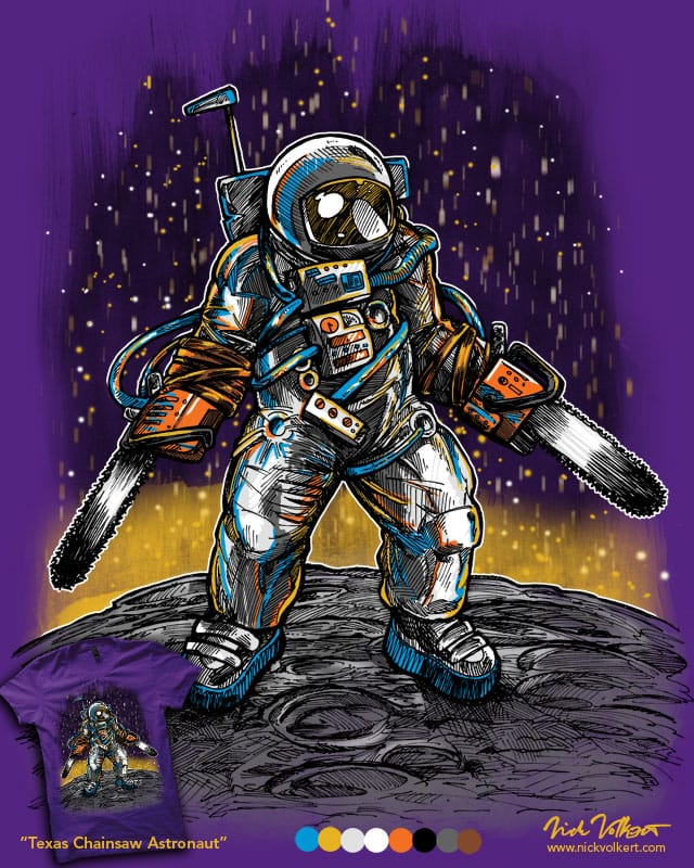 Texas Chainsaw Astronaut by nickv47 on Threadless