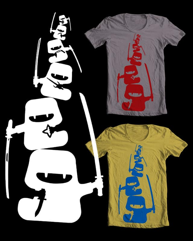 Ninjas Cover Their Backs by isawa on Threadless