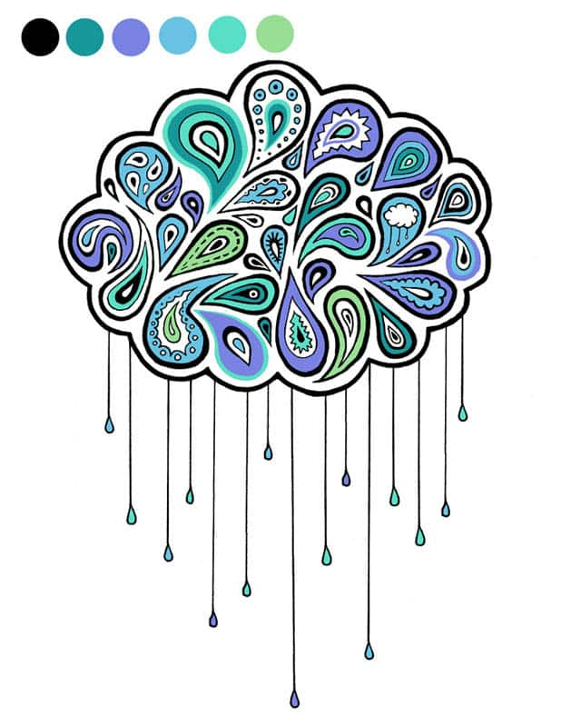 Summer Rain by cloumbologist on Threadless