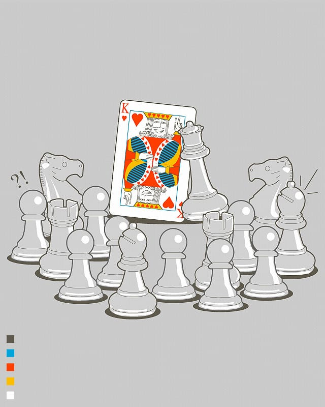 The Wrong King by wallstreet on Threadless