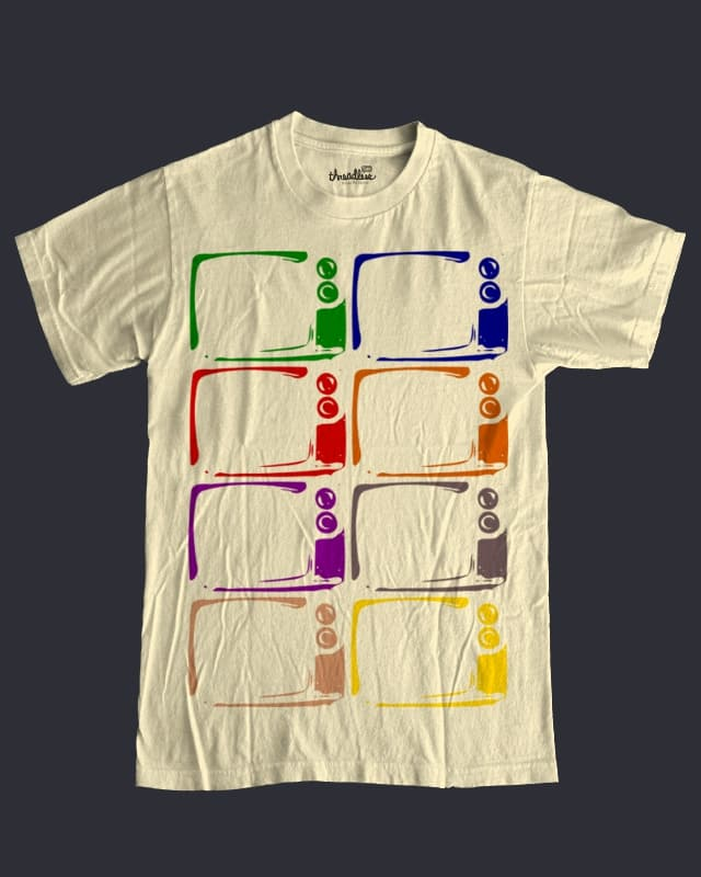 8 Color Screen Print by eskope on Threadless
