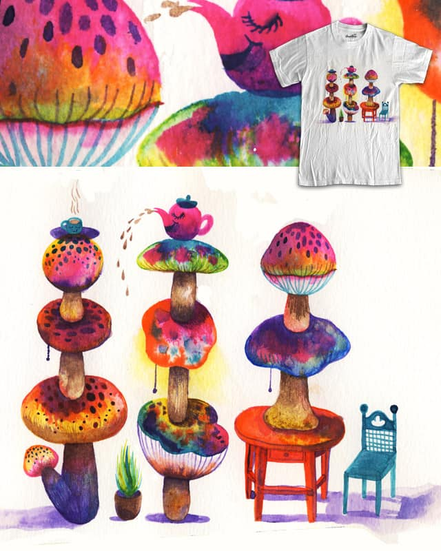 Woman & Her Three Sons Grew 'Magic Mushrooms' by ginetteginette on Threadless