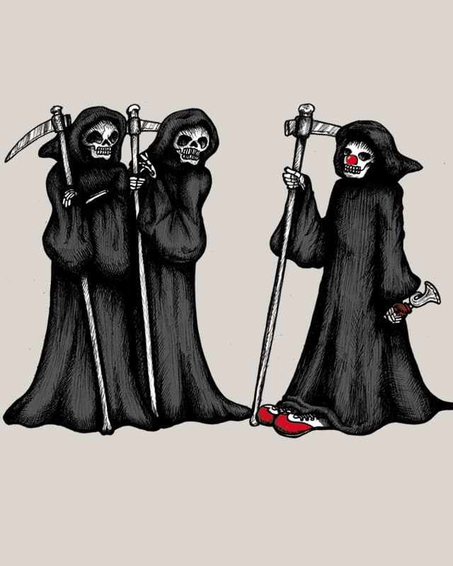 Why So Grim, Guys? by Krakaboom on Threadless
