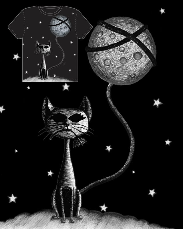 Cat who stole Moon by Guthiz on Threadless