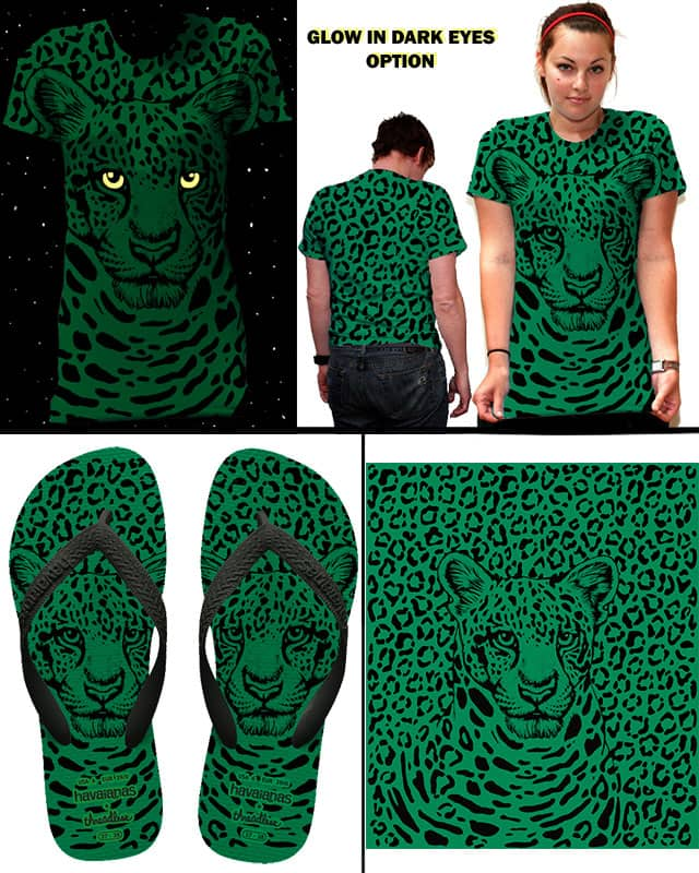 The Emerald Leopard by RobynsWolvesOfNight on Threadless