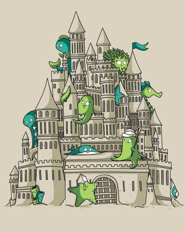 Sandcastle by Recycledwax on Threadless