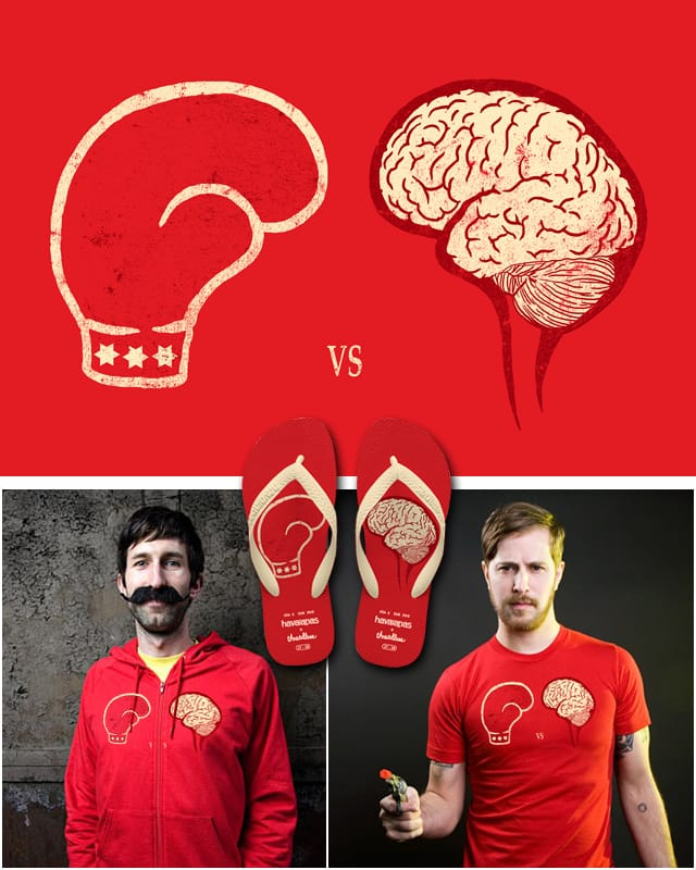 Brain vs. Brawn by TangYauHoong on Threadless