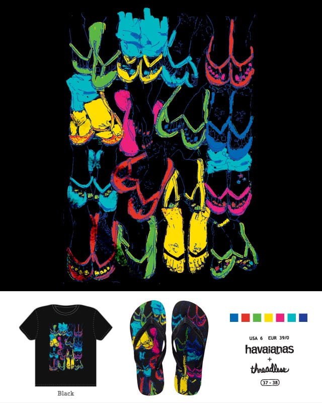chanclas by FFico on Threadless