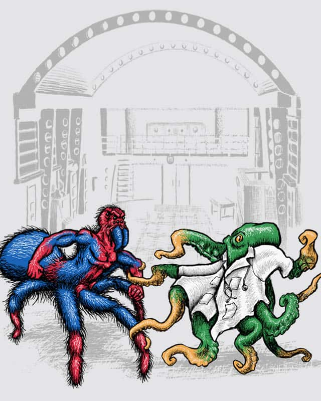 Man-Spider vs. Octopus-Doctor by EN AJUSTES on Threadless