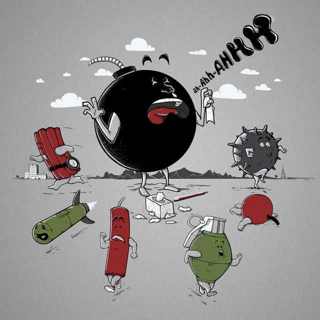 He's Gonna Blow...His Nose! by Naolito on Threadless
