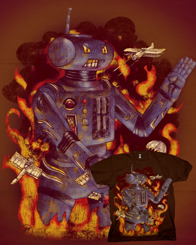 Robot Attack!! by RazCity on Threadless