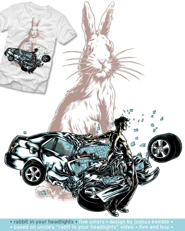 Rabbit in Your Headlights by polynothing on Threadless