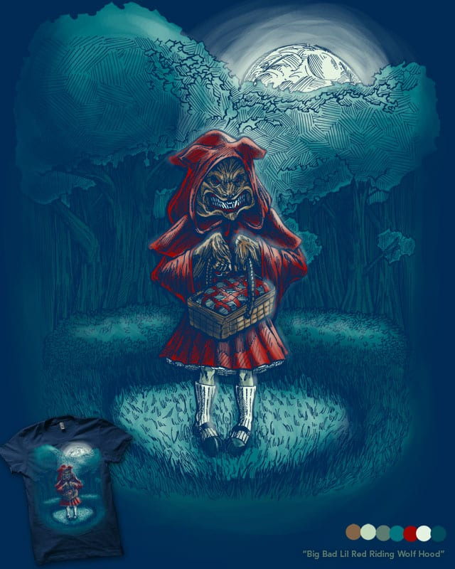 Big Bad Lil Red Riding Wolf Hood by nickv47 on Threadless
