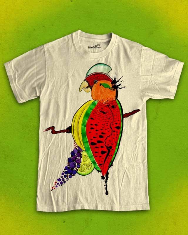 Tutti Frutti Bird by aleksandartopic on Threadless