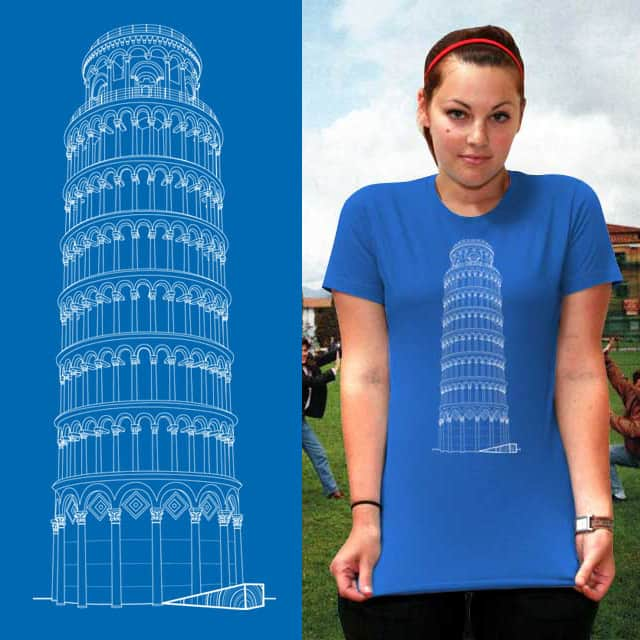 Straight Tower of Pisa by amenazapH on Threadless