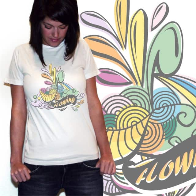 flowing by inumocca on Threadless