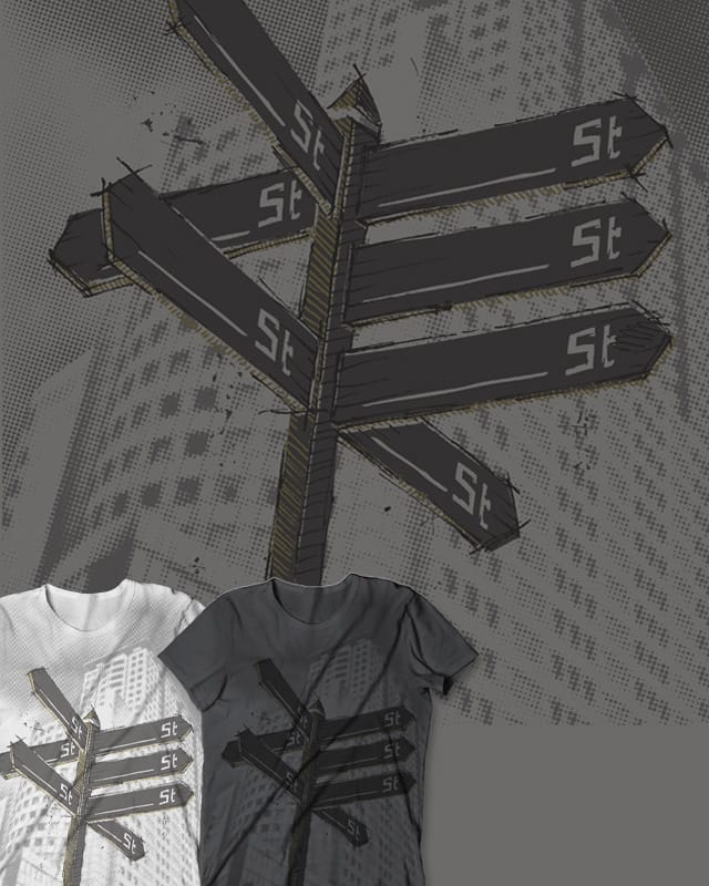 Where the streets have no name by D-maker on Threadless