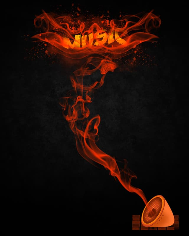 Music Flame by addu on Threadless