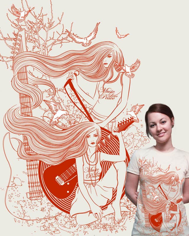Music, Love, Peace by VivianLau on Threadless