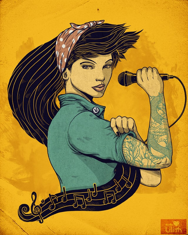 Rosie the Rocker by alexmdc on Threadless
