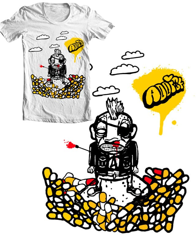 Addicted to Drugs and Food by BlackWorldTees on Threadless