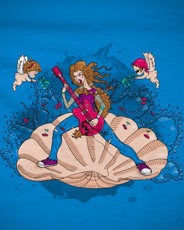 Birth of Rock/ Rocking Venus by AntonVanDraco on Threadless