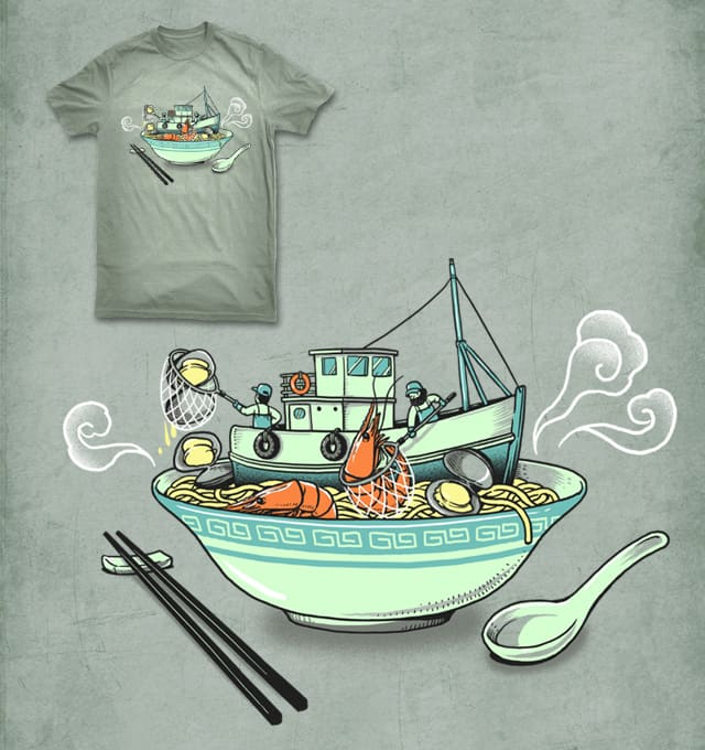Seafood Noodle by ben chen on Threadless