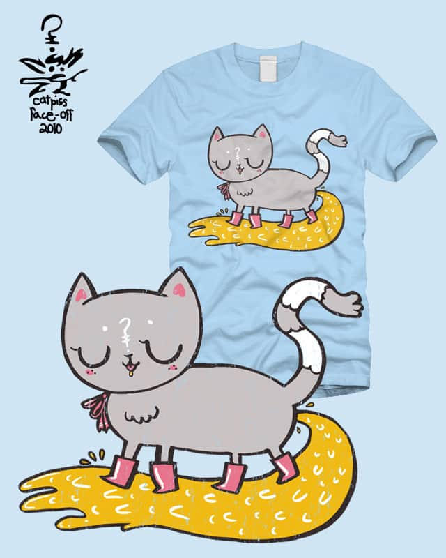 catpiss-in-boots by limetree on Threadless