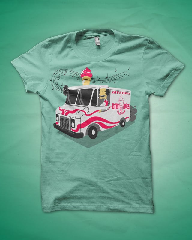 Here comes the Ice Cream truck! by Pavel Fisher on Threadless