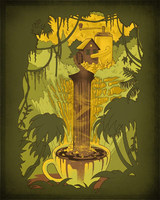 Coffeefall by RicoMambo on Threadless