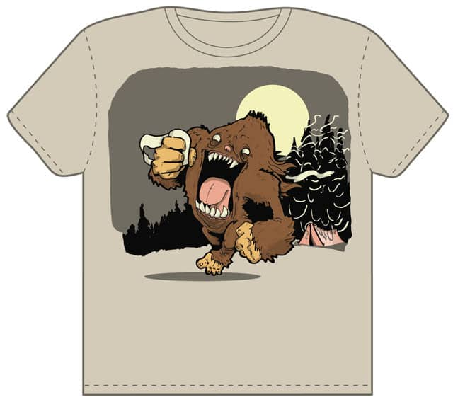 running big foot by mute79 on Threadless