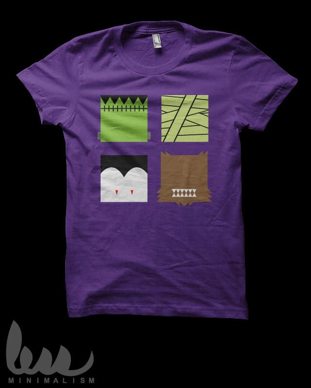 Minimal Monster Squares by biotwist on Threadless
