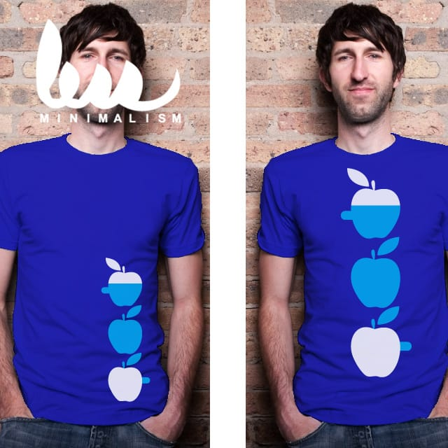 3 Apples High, and Blue. by dannodepf on Threadless