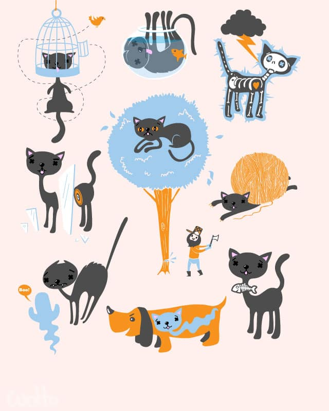 The 9th Life of Howard the Cat by wotto on Threadless
