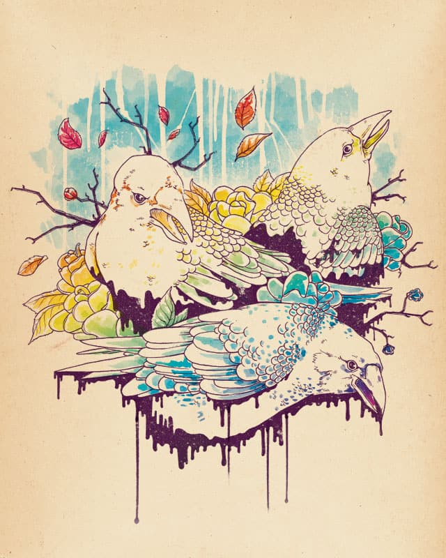 Crows in the rain by DanielTeixeira on Threadless
