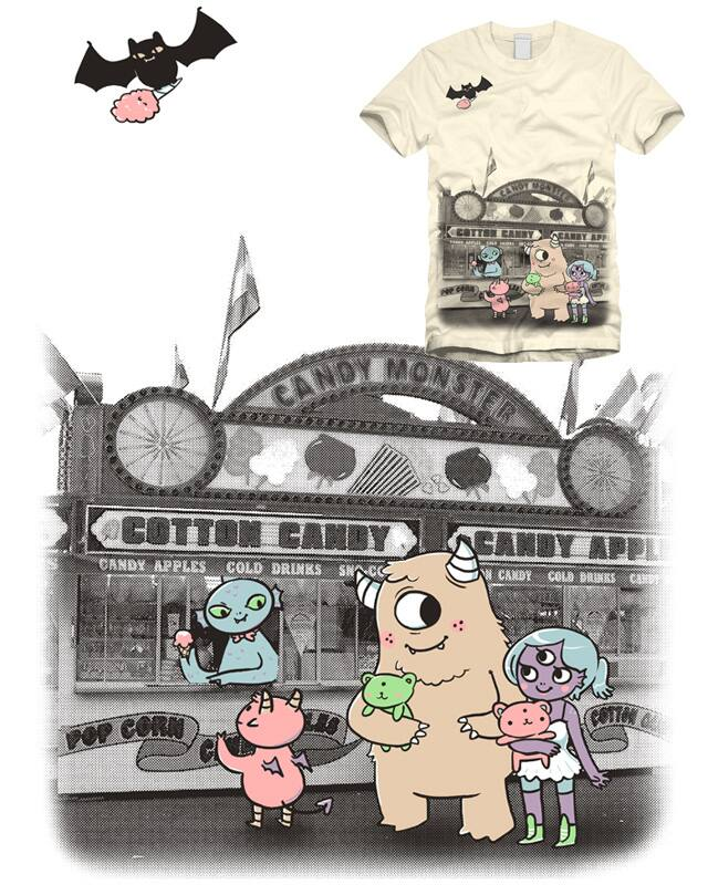 candy monster by limetree on Threadless