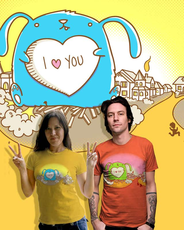 bunny loves you by celandinestern on Threadless