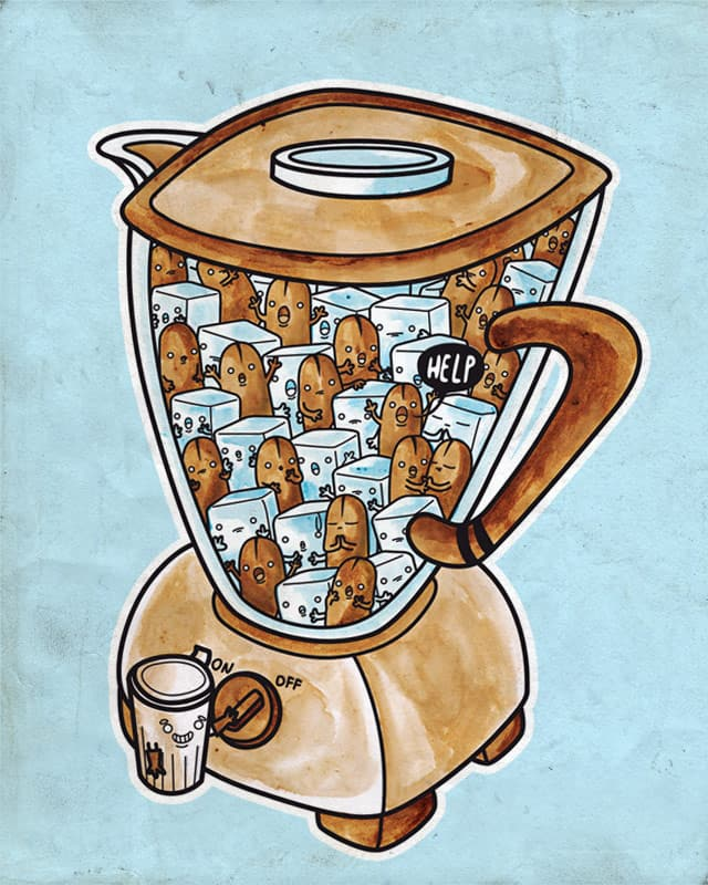 Iced Coffee by Recycledwax on Threadless