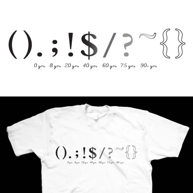 Life Of A Punctuation Mark. by FRICKINAWESOME on Threadless