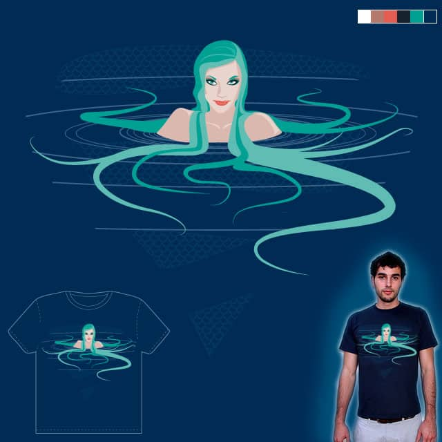 Blue Mermaid by Supereli on Threadless