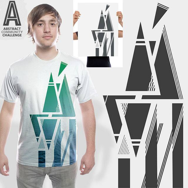 Abstract Tri-Art by bortwein on Threadless