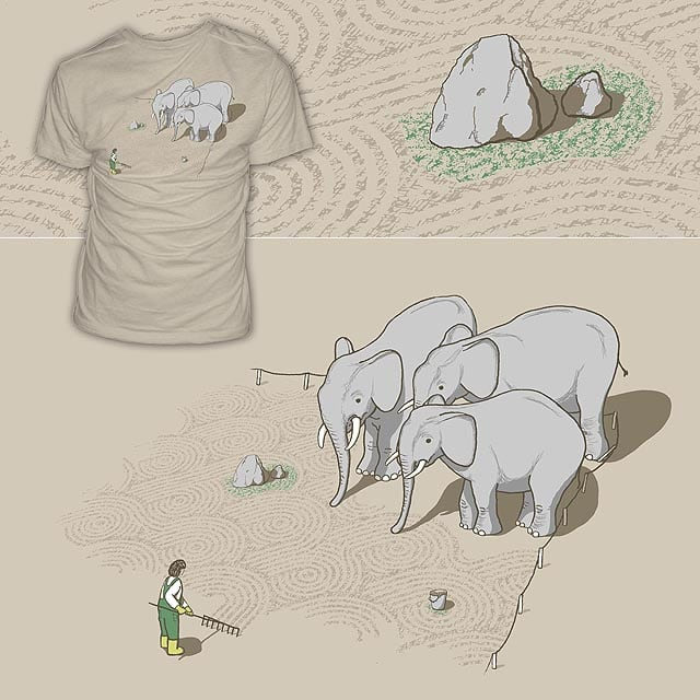 Zen Got Them Cornered by mtths on Threadless
