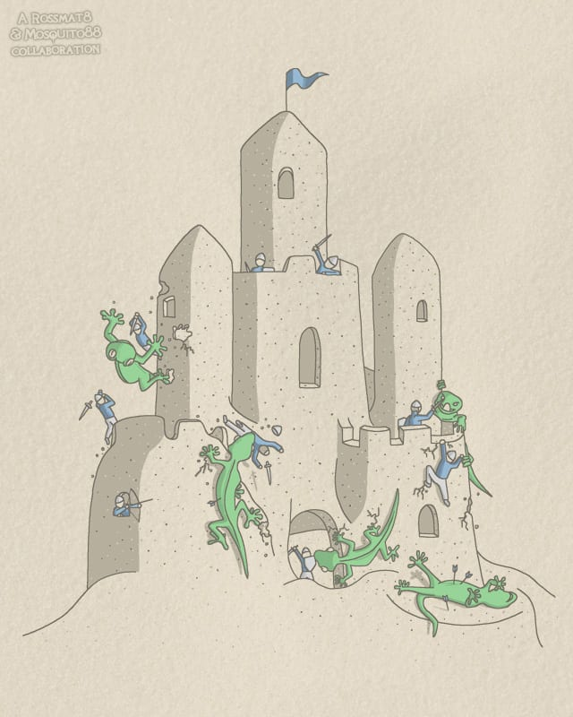 Insuring the Castle by Mosquito88 on Threadless