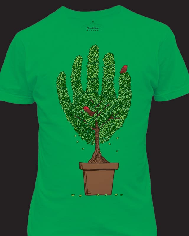 A bird in hand by agrimony on Threadless