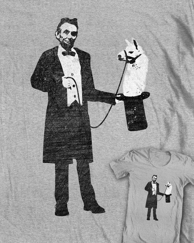 Lincoln's Llama Trick by jerbing33 on Threadless