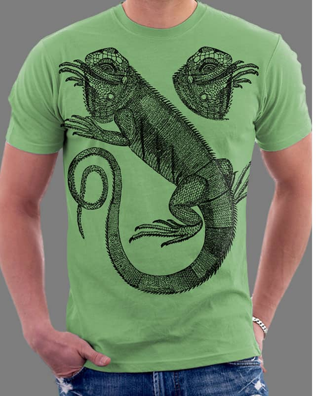 Chameleon Face by Oiseau83 on Threadless