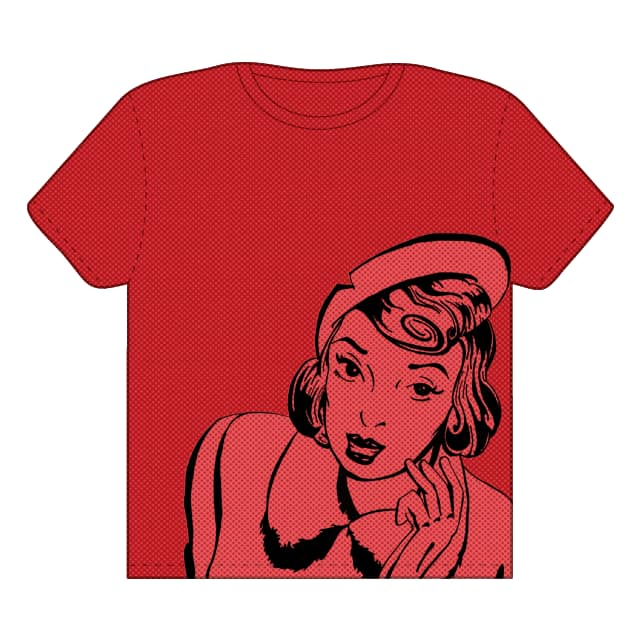 Retro Lady by TwistMedia on Threadless